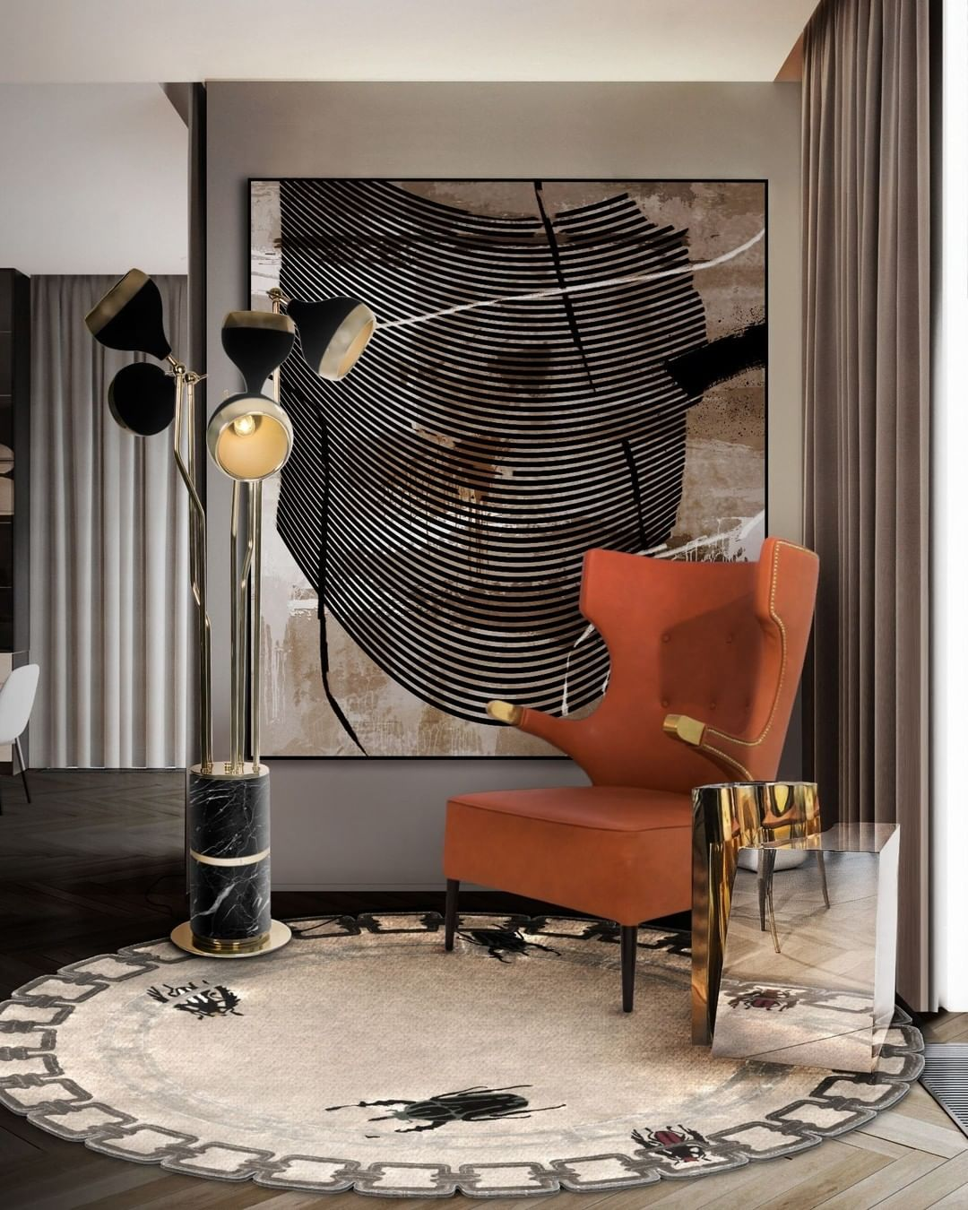 MAKE A SPECIAL LIVING ROOM WITH HANNA FLOOR LAMP