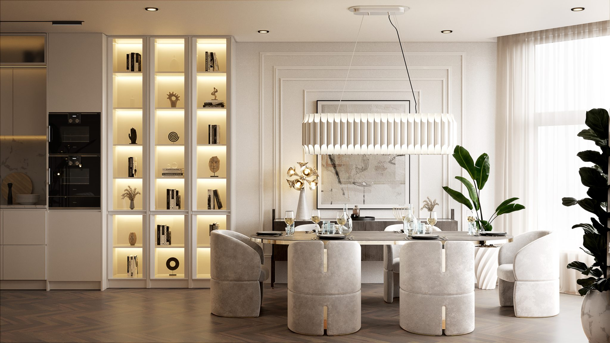 Trendy Dining Room In A Million Dollar Apartment In New York City