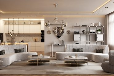 Modern Living Room In A Million Dollar Apartment